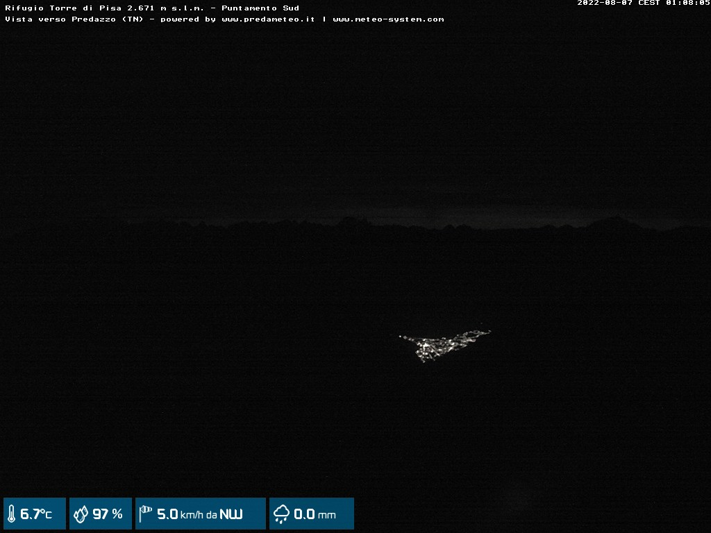 Webcam Rifugio Torre di Pisa Latemar - 2.671 m